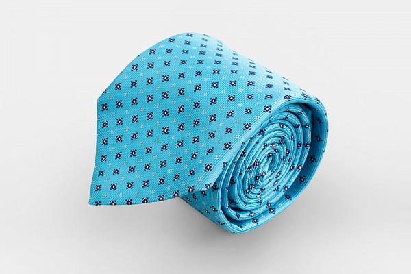 e2cb56a8a077 Купить Голубой галстук с микроузором в салонах «Manzetti» в Москве и Санкт- Петербурге